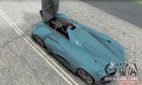 Lamborghini Egoista Concept 2013 for GTA San Andreas inner view
