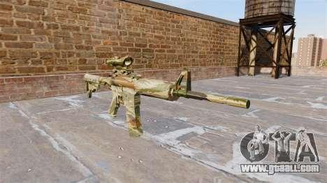 Automatic carbine MA Green cane Camo for GTA 4