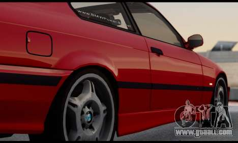 BMW M3 E36 1994 for GTA San Andreas inner view