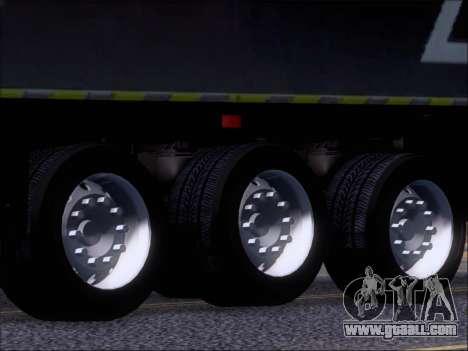 Trailer Chereau Coca-Cola Zero Truck for GTA San Andreas side view