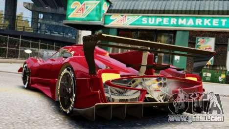 Pagani Zonda Autosport for GTA 4 left view