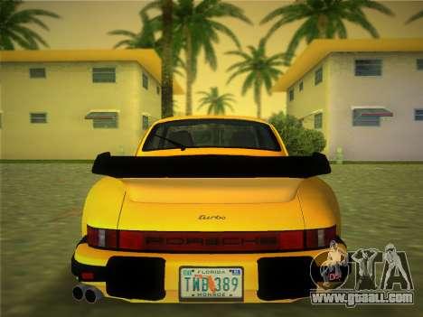Porsche 911 Turbo 3.3 Coupe US-spec (930) 1978 for GTA Vice City back left view