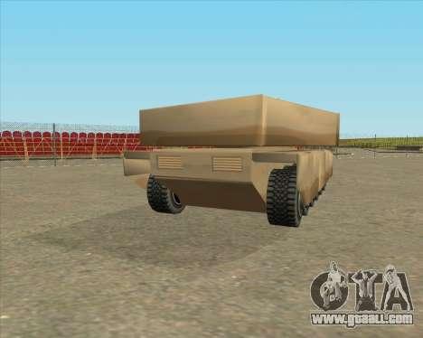 Dozuda.s Primary Tank (Rhino Export tp.) for GTA San Andreas left view