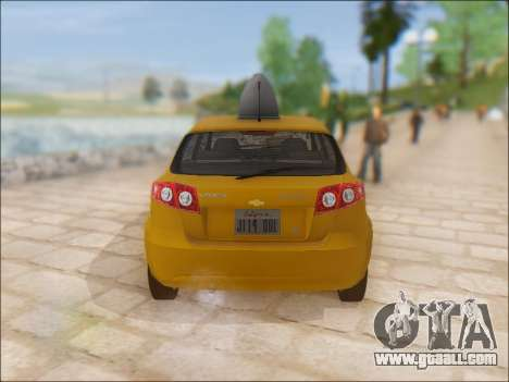 Chevrolet Lacetti Taxi for GTA San Andreas right view