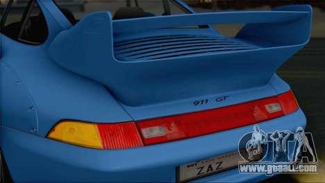 Porsche 911 GT2 (993) 1995 V1.0 SA Plate for GTA San Andreas upper view