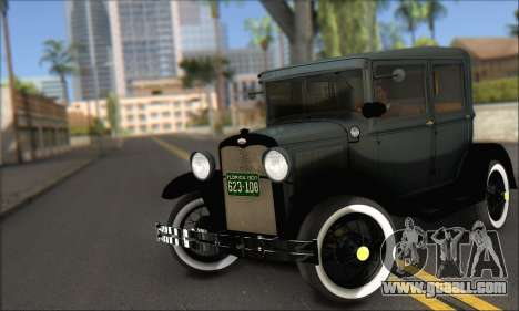Ford T 1927 for GTA San Andreas