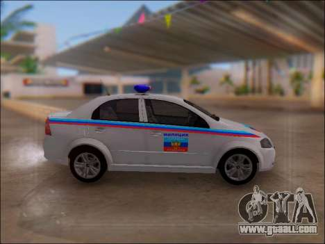 Chevrolet Aveo Police LNR for GTA San Andreas left view