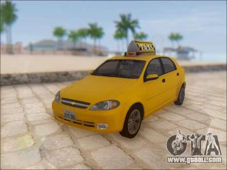 Chevrolet Lacetti Taxi for GTA San Andreas