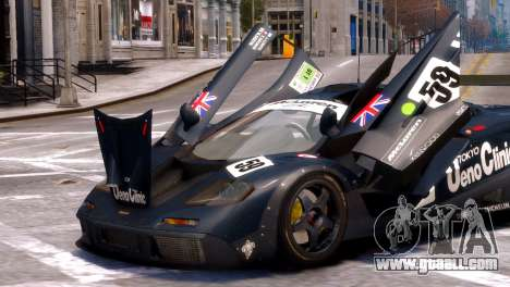 McLaren F1 GTR for GTA 4 right view