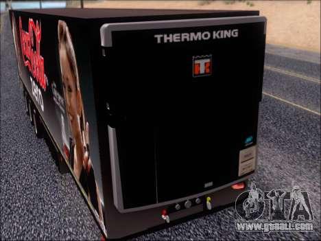 Trailer Chereau Coca-Cola Zero Truck for GTA San Andreas inner view