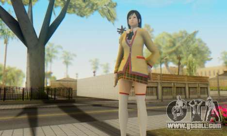 Kokoro wearing a school uniform (DOA5) for GTA San Andreas forth screenshot