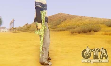 Camo M16 for GTA San Andreas forth screenshot