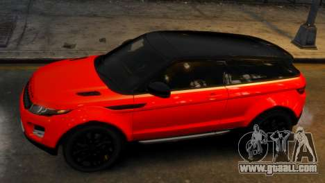Land Rover Range Rover Evoque for GTA 4 right view