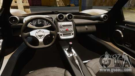 Pagani Zonda C12S Roadster 2001 v1.1 PJ4 for GTA 4 inner view