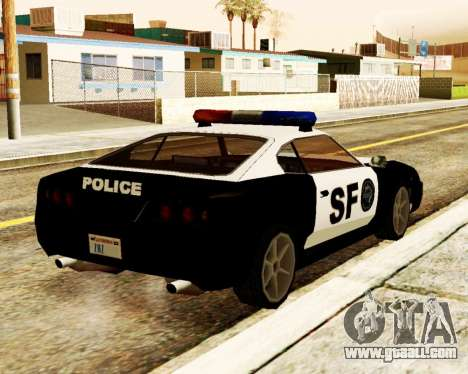 Jester Police SF for GTA San Andreas back left view
