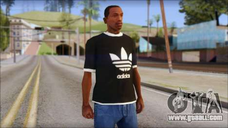 Adidas Black T-Shirt for GTA San Andreas