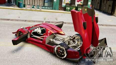 Pagani Zonda Autosport for GTA 4 back left view