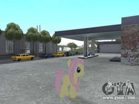 Fluttershy for GTA San Andreas forth screenshot