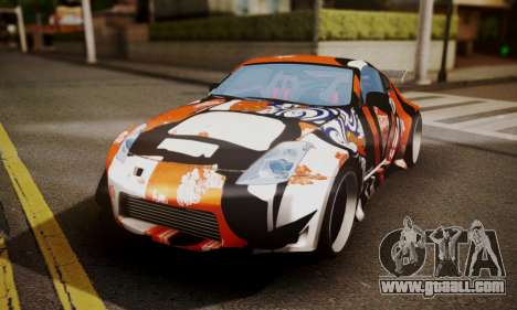 Nissan 350z Angel Beast Itasha Edition for GTA San Andreas inner view