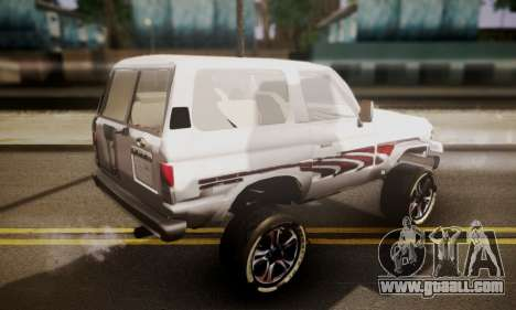 Toyota Land Cruiser LC 70 for GTA San Andreas left view