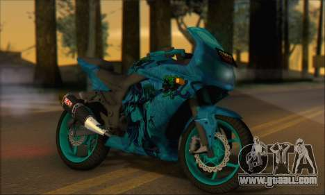 Kawasaki Ninja 250 RR Highschool DxD for GTA San Andreas back left view