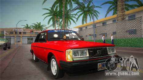 Volvo 242 Turbo Evolution for GTA Vice City back left view