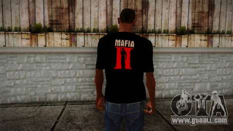 Mafia 2 Black Shirt for GTA San Andreas second screenshot