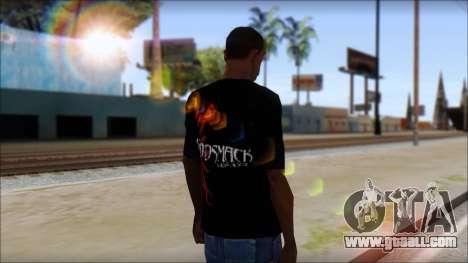 Godsmack T-Shirt for GTA San Andreas third screenshot