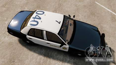 Ford Crown Victoria Sheriff [ELS] Slicktop for GTA 4 right view