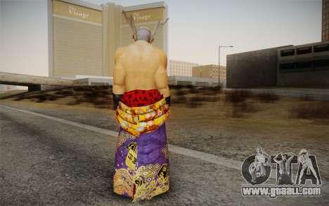 Heihachi Mishima v2 for GTA San Andreas second screenshot