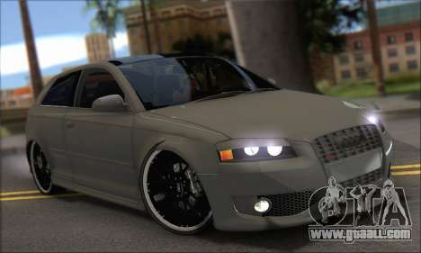 Audi S3 2006 Custom for GTA San Andreas right view