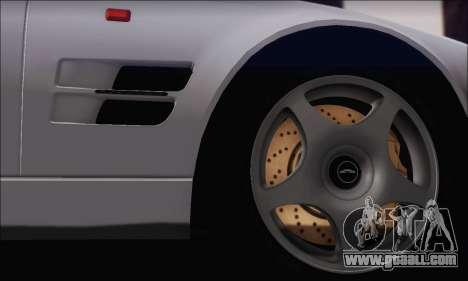 Aston Martin V8 Vantage V600 1998 for GTA San Andreas back view