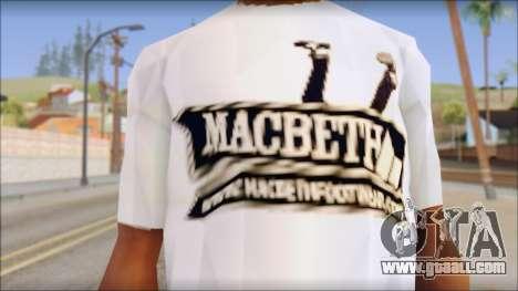 Macbeth T-Shirt for GTA San Andreas third screenshot