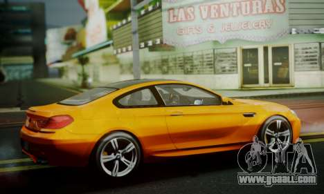 BMW M6 F13 2013 for GTA San Andreas inner view