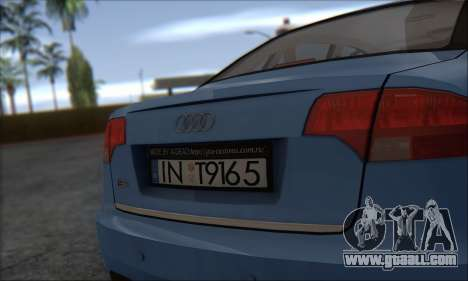 Audi S4 4.0 Quattro 2006 for GTA San Andreas back left view