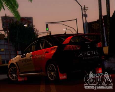 Mitsubushi Lancer Evolution Rally Team Claro for GTA San Andreas