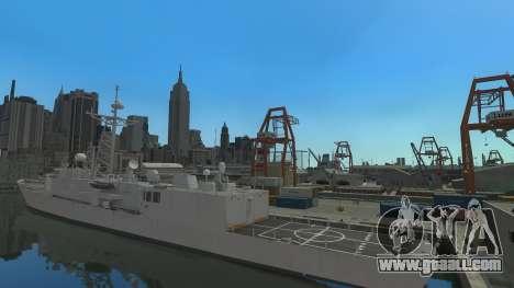 U.S. Navy frigate for GTA 4