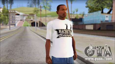 Macbeth T-Shirt for GTA San Andreas