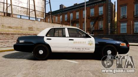 Ford Crown Victoria Sheriff [ELS] Slicktop for GTA 4 left view