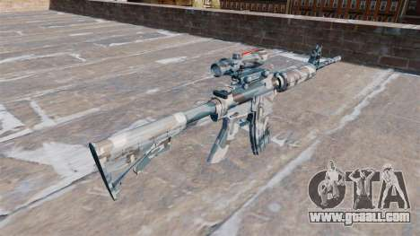 Automatic carbine MA Melted snow Camo for GTA 4 second screenshot