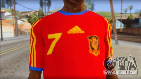Spanish Football Shirt for GTA San Andreas third screenshot