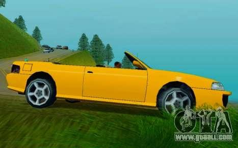 Sultan Сabriolet v2.0 for GTA San Andreas back left view