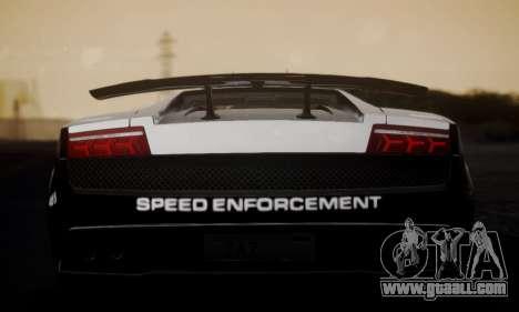 Lamborghini Gallardo LP 570-4 2011 Police v2 for GTA San Andreas back left view