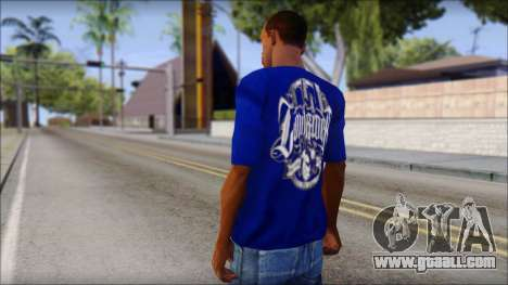 Lowrider Blue T-Shirt for GTA San Andreas second screenshot