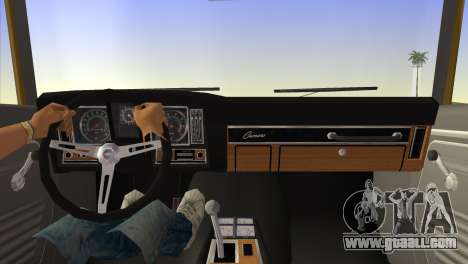 Chevrolet Camaro Cab 1969 for GTA Vice City back left view
