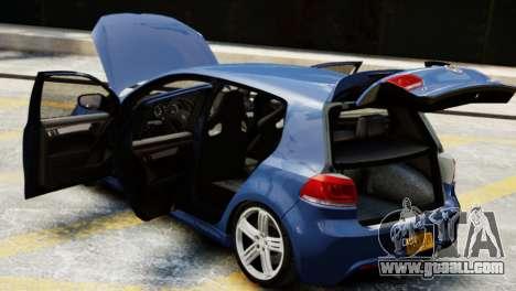 Volkswagen Golf R 2010 for GTA 4 back view