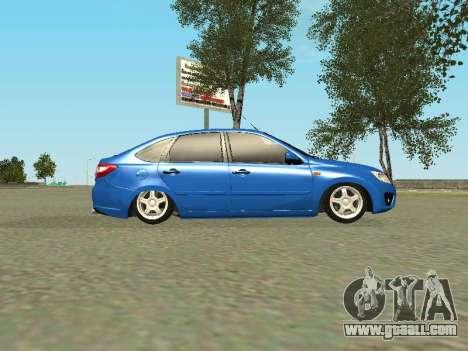 Lada Granta Liftback for GTA San Andreas bottom view