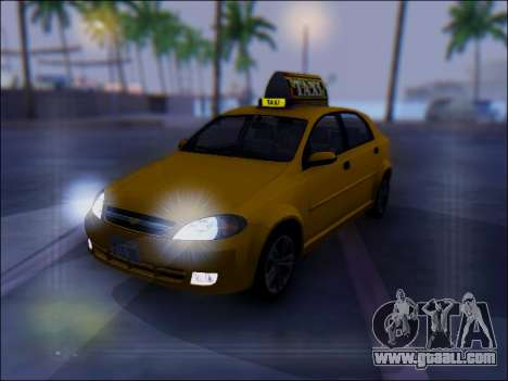 Chevrolet Lacetti Taxi for GTA San Andreas upper view