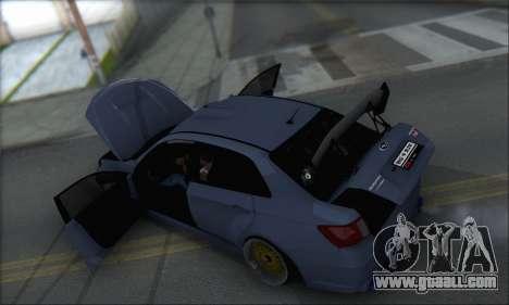 Subaru Impreza WRX STI 2010 for GTA San Andreas interior