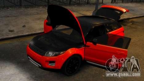 Land Rover Range Rover Evoque for GTA 4 back view